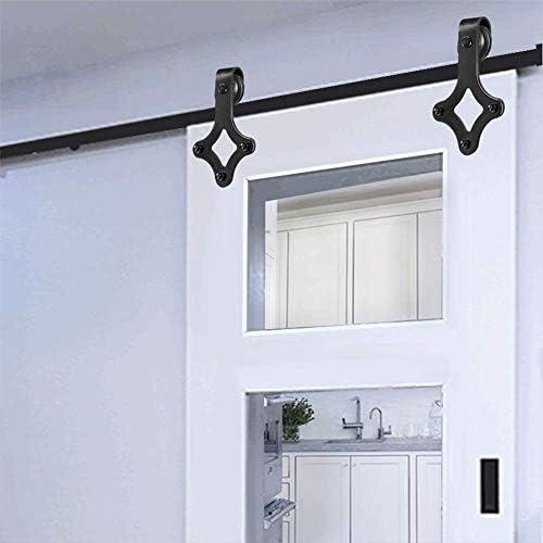 Herraje para puerta corredera, sistema de puerta corredera, kit para puertas correderas interiores y armarios de pared: Amazon.es: Bricolaje y herramientas