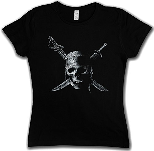 Price comparison product image Urban Backwoods Pirate Skull Woman Girlie T-Shirt