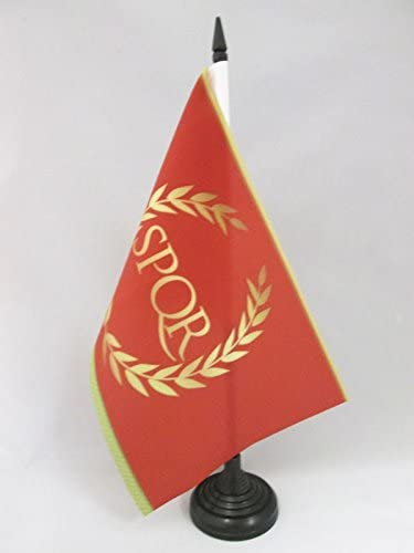 AZ FLAG Bandera de Mesa del Imperio Romano 21x14cm - BANDERINA de DESPACHO SPQR 14 x 21 cm: Amazon.es: Hogar