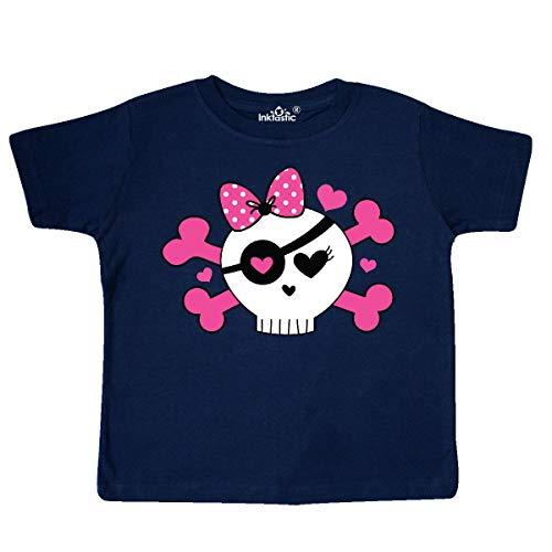 inktastic - Girl Pirate Skull Valentine Toddler T-Shirt