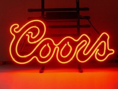 Coors Light Neon Sign - Coors Red Logo Handcrafted Real Glass Neon Light Sign Home Beer Bar Pub Sign 19x15 inches.The Best Offer!Super Bright!