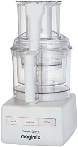 Magimix Compact 3200 XL - Robot de cocina (2,6 L, Transparente, Blanco, Botones, 650 W, 190 mm, 275 mm): Amazon.es: Hogar