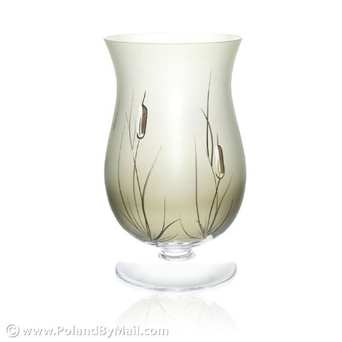 Candle Cattail (Glass Candle Holder - Cat-tail Series, 11 inches Tall)