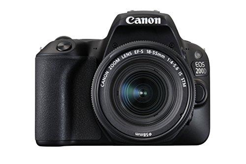 Canon EOS 200D Rebel SL2 Kit with EF-S 18-55mm f/4-5.6 is STM Lens Digital SLR Cameras (Black) (International Model No Warranty)