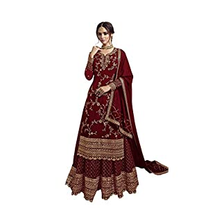 RUDRAPRAYAG anarkali georgette and santoon suits for women | anarkali gown for women readymade | gown for women semi-stitched | gown for women 2020 | anarkali gown | gown in Clothing & Accessories
