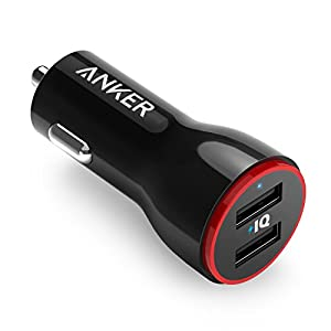 Anker 24W Dual USB Car Charger, PowerDrive 2 for iPhone X/8/7/6s/Plus, iPad Pro/Air 2/mini, Galaxy S7/S6/Edge/Plus, Note 5/4, LG, Nexus, HTC and More