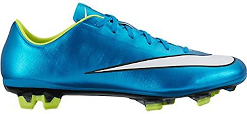 Cheap Nike Womens Mercurial Veloce II FG (Blue lagoon/White/Volt/Black) (9.5)