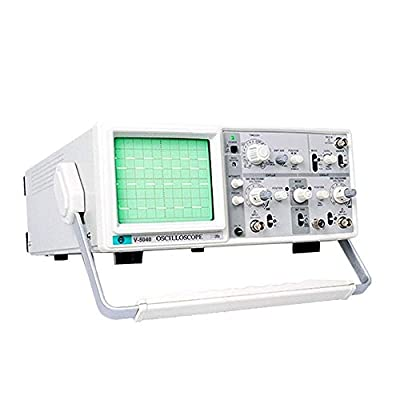 "BWAM Oscilloscope Handheld Oscilloscope 40Mhz Analog Oscilloscope with 6"" CRT 2 Channels 2 Tracing Dual Channel Analogue Oscilloscope"