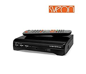 Sveon SDT8200 reproductor multimedia y grabador de sonido - Reproductor/sintonizador (Negro, SATA, BMP, GIF, JPG, MP3, OGG, WMA, DVB-T, Alámbrico)