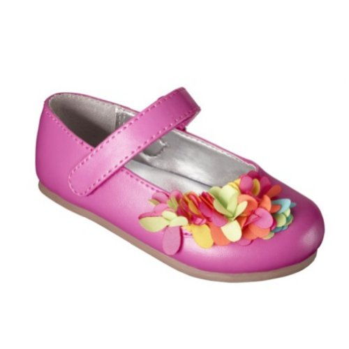 Osh Kosh Genuine Baby Infant Girl Pink Flower Dress Shoes Flats Mary Janes 2 Inf