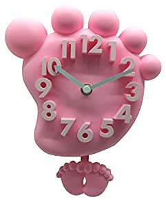 cc-jj–tridimensional digital reloj de pared reloj de silencio breve Cartoon