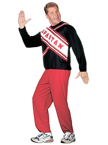 [Cheerleader Spartan Guy Adult Mens Costume] (Guy Cheerleader Costumes)