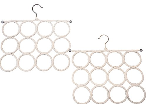 Specialty Styles - Two Pack Scarf Hanger. Space Saver, Snag Free, Hanger for Accessories. Use in Closet, Scarf Hanger on a Wall or Scarf Holder Over the Door. Also Can Be Used As a Tie Rack Holder or for Leggings