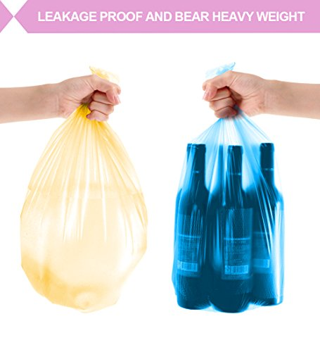 Small Trash Bags,2.6 Gallon Garbage Bags FORID Bathroom Trash can Liners for Bedroom Home Kitchen 150 Counts 5 Color by FORID (Image #5)