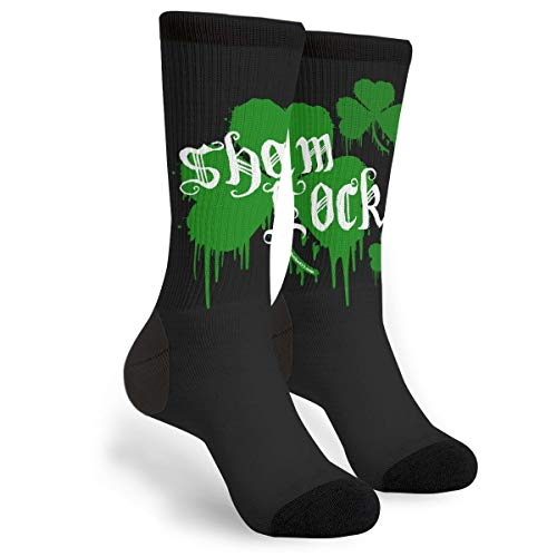 KSSChr Men Women Classic Crew Socks Sham Rocker Dark Classics Personalized Socks Sport Athletic Stockings