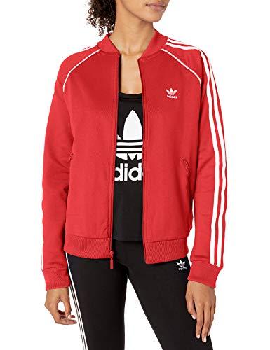 adidas Originals Women's Superstar Track Top Jacket, Scarlet, Medium