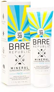 Bare Republic Mineral Face Sunscreen Lotion SPF 30 (1.7 oz)
