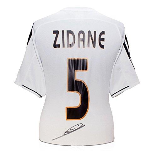 Zinedine Zidane Real Madrid 2003-04 camiseta de fútbol firmada: Amazon.es: Deportes y aire libre