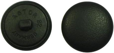 6 Classique Cuir BOUTONS 23 mm Noir