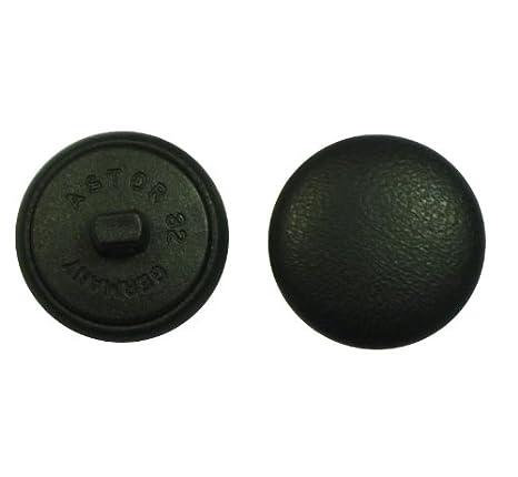 Knöpfe Halbkugel 1 Stück schwarzer Samt Stoff bezogen 18 mm
