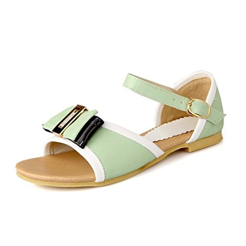 AIKAKA Verano Arco Green Zapatos Mujer de Gran Estudiante de Tamaño Piso Sandalias de Primavera rqaFrw