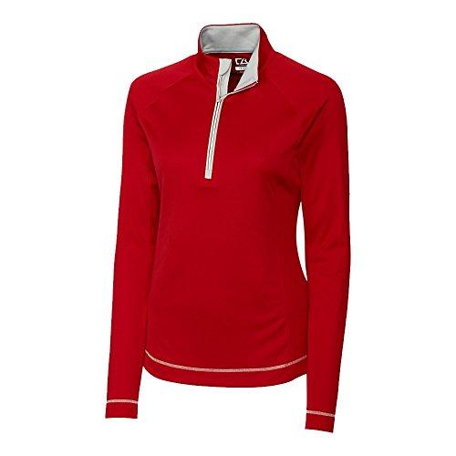 Cutter & Buck Mesh Pullover - Cutter & Buck Ladies Moisture Wicking Pullover, Cardinal Red, Small