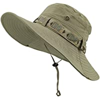 67147d4da6c LETHMIK Fishing Sun Boonie Hat Summer UV Protection Cap Outdoor Hunting Hat