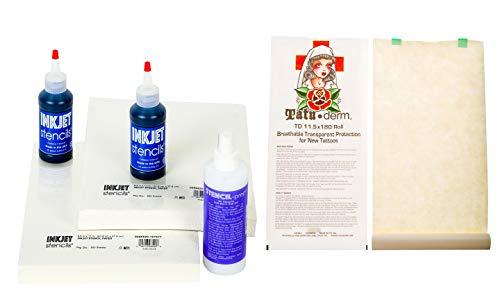 Inkjet Stencils Tattoo Kit - Ink, Stencil Prep and 11.5