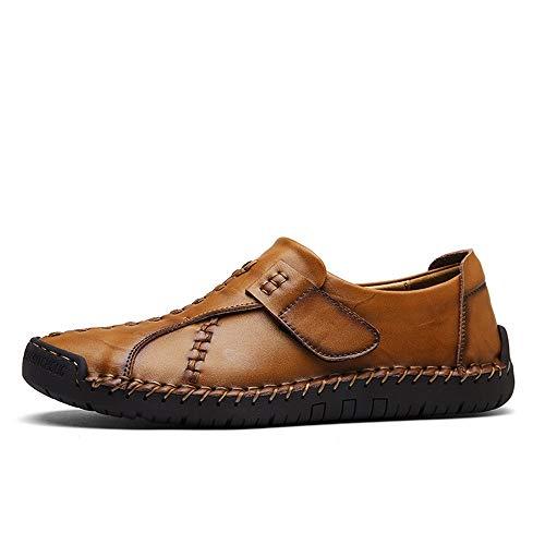 for Suola Colore Dimensione mocassini guida fatta Men Fashion a ZHRUI Marrone di EU mano Rosso Loop 44 Casual Soft Hook Shoes 4wnB8qtF