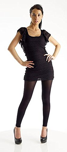 Black Cocktail Dress with Leggings