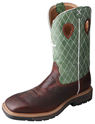 Twisted X Men's Lite Weight Work Boot Square Toe Cognac 11 EE US (Best Looking Mens Boots)