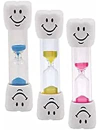 Take 1 x Blue Kids Toothbrush Timer - 2 Minute Smiley Sand Timer for Brushing Children's Teeth lowestprice