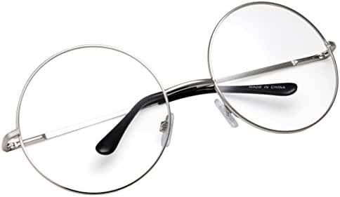 grinderPUNCH - Non-Prescription Round Circle Frame Clear Lens Glasses