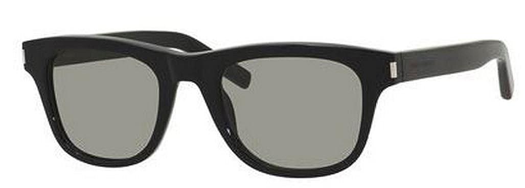 95aaf252141 Amazon.com: Yves Saint Laurent Classic 2/S Sunglasses-0807 Black (5L Gray  Green Lens)-49mm: Clothing