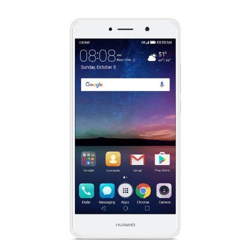 Cricket Wireless - Huawei Elate 4G LTE with 16GB Memory Prepaid Cell Phone - White by Cricket Wireless