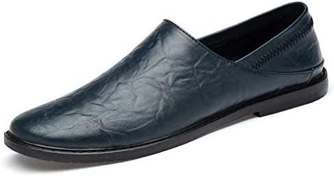 レジャー運転クラシック快適な男性カジュアルシューズローファー男性の靴品質分割革の靴男性フラットスリップオンソフト本革軽量耐摩耗性