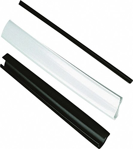 High Density Polyethylene Edge Liner, 0.17'' Wide, 0.15'' Deep, 0.05 to 0.081'' Metal Thickness, Black (500 Pack)