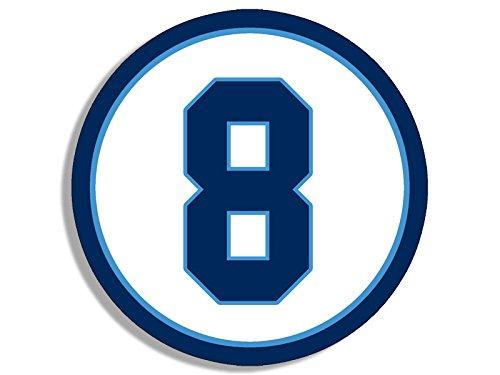 Round #8 Tennessee Titans Colors Sticker (marcus mariota number 8)