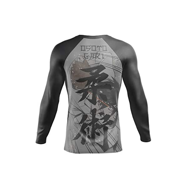 Barracuda Sportswear Men's Long Sleeve Compression Shirt - Cool Dry MMA, Wrestling, Sports, BJJ Rash Guard - Anime Design 6
