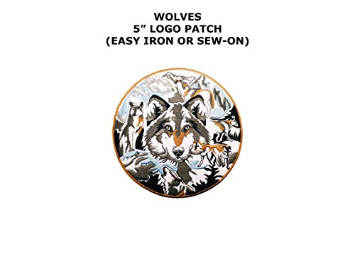 Wolf Pack Circle Nature Embroidered Iron/Sew-on Comics Cartoon Theme Logo Patch/Applique - Wolf Cape