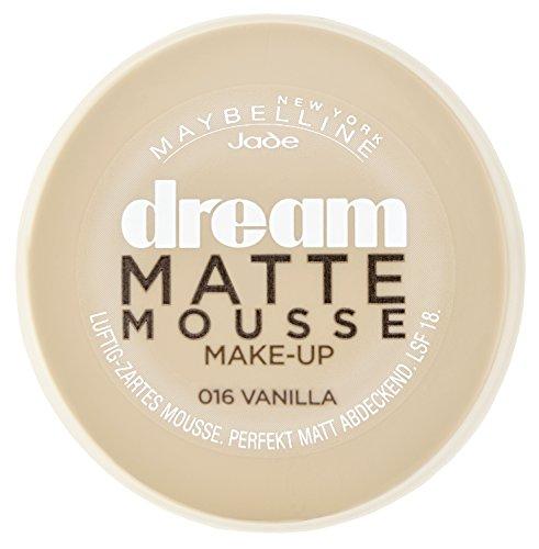 Maybelline New York Make-Up Dream Matte Mousse Vanilla 16 / Schminke in einem Hautfarben-Ton mit mattiertem Finish, 1 x 18 ml