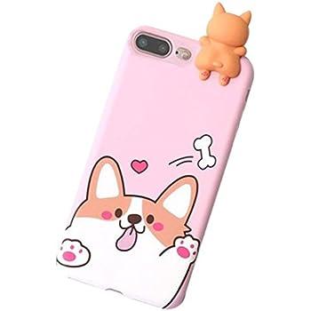 best service 52704 bae41 Amazon.com: Cute Corgi Dog Slim Transparent iPhone 6 6s Case, Clear ...