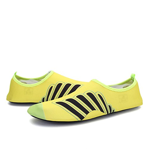 Outsole Quick Holey Shoes On Sports and Sneaker Women 8Yellow Ventilation Outdoor Pull Dry Kids' Water Men KPU 7WZfvUYq