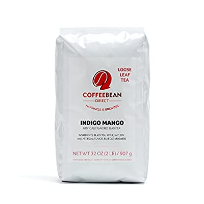 Coffee Bean Direct Mango Flavored Loose Leaf Tea, 2 Pound Bags (Pack of 2)