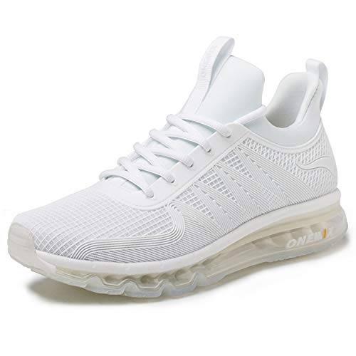 ONEMIX Air Cushion Running Shoes Breathable Lightweight Outdoor Men's Sneakers White