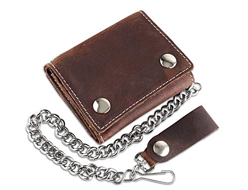 Wallets & Holders - RFID Blocking Men's Tri-fold Vintage Biker ...
