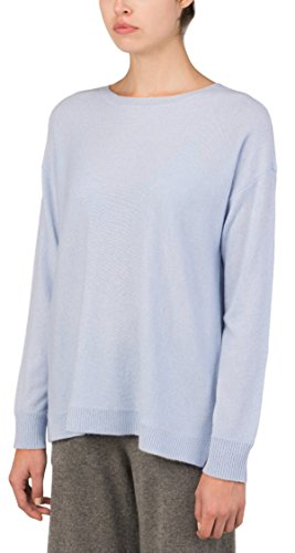 100% Pure Mongolian Cashmere Pullover Loose Fit Knit Sweater For Women and Men (Baby Blue, M) by P.CASHMERE NYC