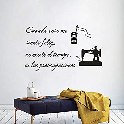 ASFGA Coser calcomanías de Vinilo de Texto Cuando Coso. Estoy Tan ...