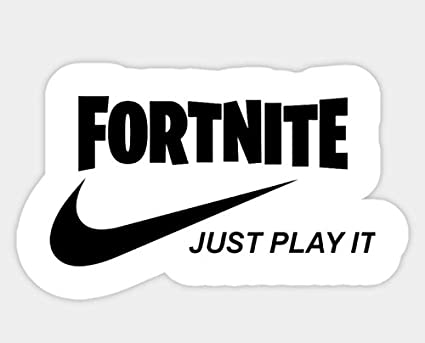 Amazon Com Fortnite Just Play It Decal Vinyl Sticker For Cars