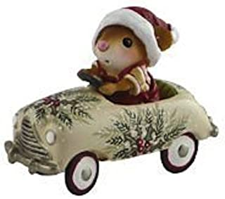 product image for Wee Forest Folk - Figurine - Christmas Petal Pusher Mouse Car